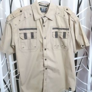 South Pole Short Sleeve Button Up Shirt